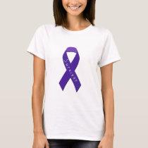 Purple Ribbon Awareness T-Shirt