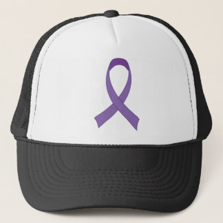 Purple Ribbon Awareness Tshirt Gift Trucker Hat