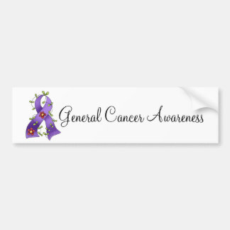 Purple Ribbon Bumper Stickers