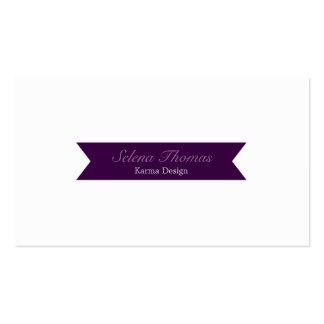 Purple Ribbon Business Card