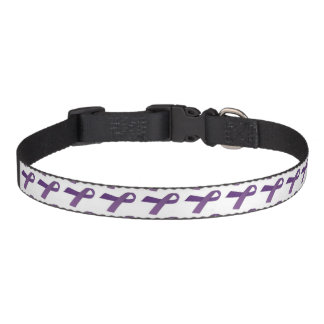 Purple Ribbon Cancer Awareness Collars