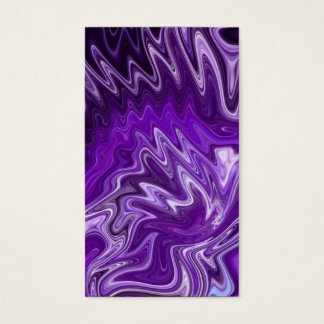 Purple Ribbon Candy Abstract Neon Swirl Background Business Card
