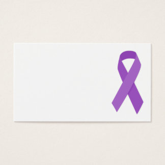 PURPLE RIBBON CAUSES support for Alzheimer's disea Business Card
