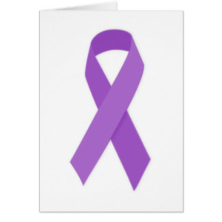 PURPLE RIBBON CAUSES support for Alzheimer's disea Card