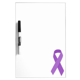PURPLE RIBBON CAUSES support for Alzheimer's disea Dry Erase Whiteboards