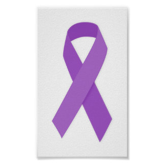 PURPLE RIBBON CAUSES support for Alzheimer's disea Posters