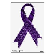 Purple Ribbon - Chronic Pain Awareness Wall Sticker