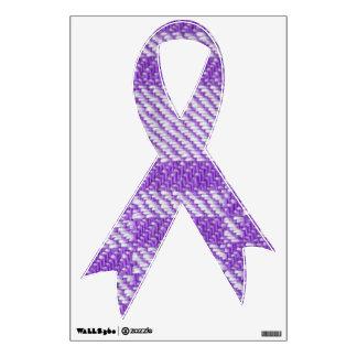 Purple Ribbon - Chronic Pain Awareness Room Sticker