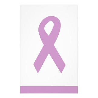 Purple Ribbon Customizable Stationary Stationery