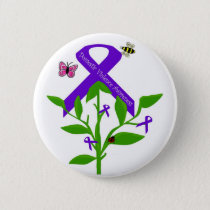 Purple ribbon Domestic Violence Awareness button