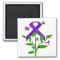 Purple ribbon  Domestic Violence Awareness magnet