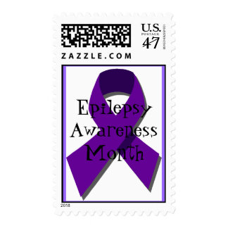 purple ribbon, Epilepsy Awareness Month Postage