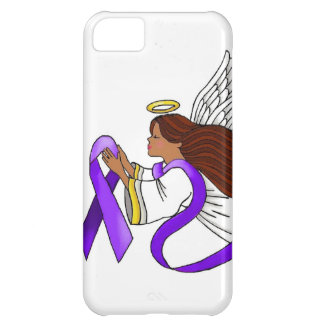 """""""Purple Ribbon"""" Ethnic Angel of Awareness Case For iPhone 5C"""