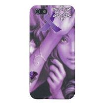 Purple Ribbon Fairy Awareness iPhone 5C Case