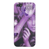 Purple Ribbon Fairy Awareness iPhone Speck 4 Case