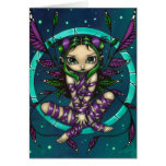 """Purple Ribbon Fairy"" Greeting Card"