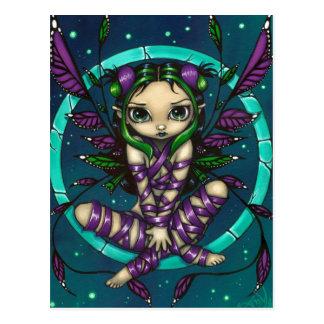 """Purple Ribbon Fairy"" Postcard"