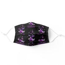 Purple Ribbon Fibromyalgia Awareness Adult Cloth Face Mask