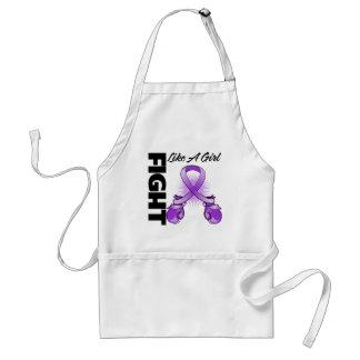 Purple Ribbon Fight Like A Girl Adult Apron