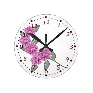 Purple Ribbon Flower Clock