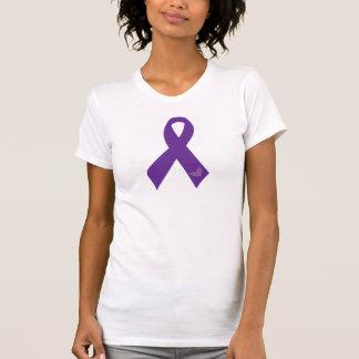 Purple Ribbon Heart T-Shirt