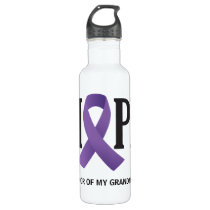 Purple Ribbon Hope for a Cure Stainless Steel Water Bottle