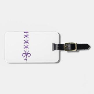 Purple Ribbon Luggage Tag