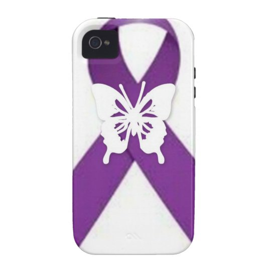 Purple Ribbon [lupus] Case-Mate iPhone 4 Cover