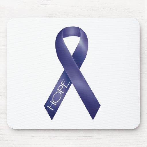 Purple Ribbon Mouse Pad