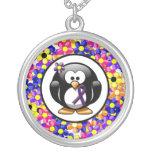 Purple Ribbon Penguin Custom Jewelry