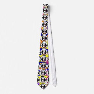 Purple Ribbon Penguin Neck Tie