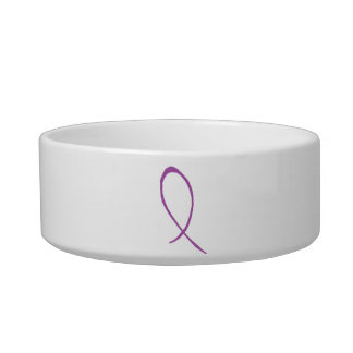Purple Ribbon Pet Bowl