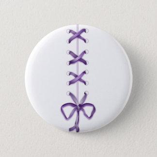 Purple Ribbon Pinback Button