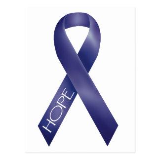 Purple Ribbon Post Card