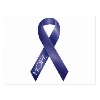 Purple Ribbon Postcard