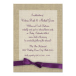 Purple Ribbon Rehearsal Dinner Custom Invites