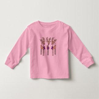 Purple Ribbon Reindeer - Alzheimer's Disease Toddler T-shirt