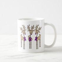 Purple Ribbon Reindeer (Crohn's & Colitis) Coffee Mug