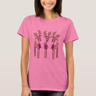 Purple Ribbon Reindeer (Crohn's & Colitis) T-Shirt