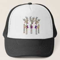 Purple Ribbon Reindeer (Crohn's & Colitis) Trucker Hat