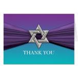 Purple Ribbon Silver Star of David Cards