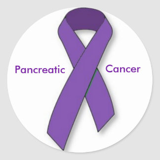 Purple Ribbon Stickers
