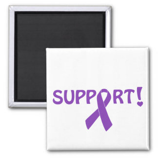 Purple Ribbon Support! Refrigerator Magnet