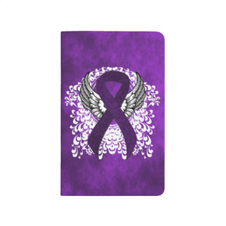 Purple Ribbon with Wings Journal