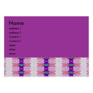 purple ribbons business card templates