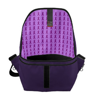 Purple Ribbons Messenger Bag