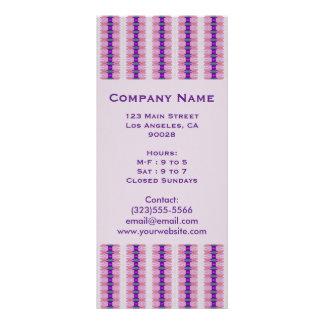 purple ribbons rack card template