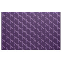 Purple Ribbons Tiled  Pattern Fabric