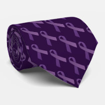 Purple RibbonsAlzheimer's Disease Awareness Tie