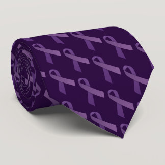 Purple RibbonsAlzheimer's Disease Awareness Tie